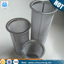 100 Mesh stainless steel cold coffee brewer mesh filter tube / mason jar cold brew coffee filter strainer