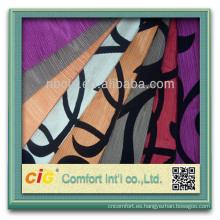 Forme el nuevo diseño colorido de productos para el hogar textil polyester bandada tela