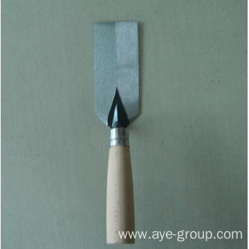 Brick trowel hand tools with wooden handle