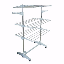 3 tiers Foldable Heavy Duty and Compact Storage Drying Rack System