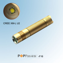 Tocha de alumínio CREE Xm-L U2 do diodo emissor de luz das mulheres (POPPAS-F16)