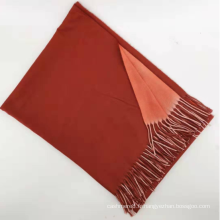 écharpe d'hiver en tricot 100% cachemire de couleur unie