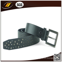 Italian Black Pure Leather Belt New Design Fashion Men′s Belt