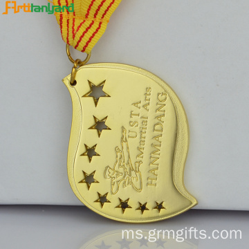 Medali Engraved Custom Dengan Logo Embossed