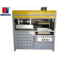 Plastic sheet molding machine with auto-running furnace
