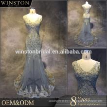 2016 Поставщик Гуанчжоу V-образным вырезом крытая назад короткие на eBay вечерние платья