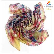 Elegant Women Ladies Silk Square Scarf Scarves Bandanas Satin Head Wrap Shawl