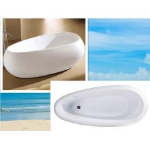 Cupc Unique Acrylic Design Bath Tub Freestanding Paint Tub
