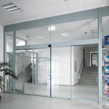 Commercial automatic sensor glass sliding door