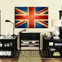 Creative United Kindom Flaggen Leinwand Kunstdruck für Wand hängende Dekoration