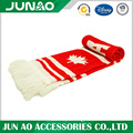 Acrylic jaquard long scarf with custom pattern