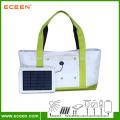 2.4W, 2200 mah banque d'énergie, énergie solaire, sac de shopping sur la plage