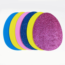 Egg shape glitter EVA foam sheet