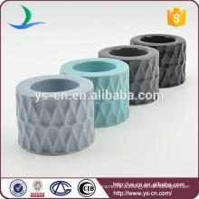 Design moderno titular de vela cerâmica para o presente