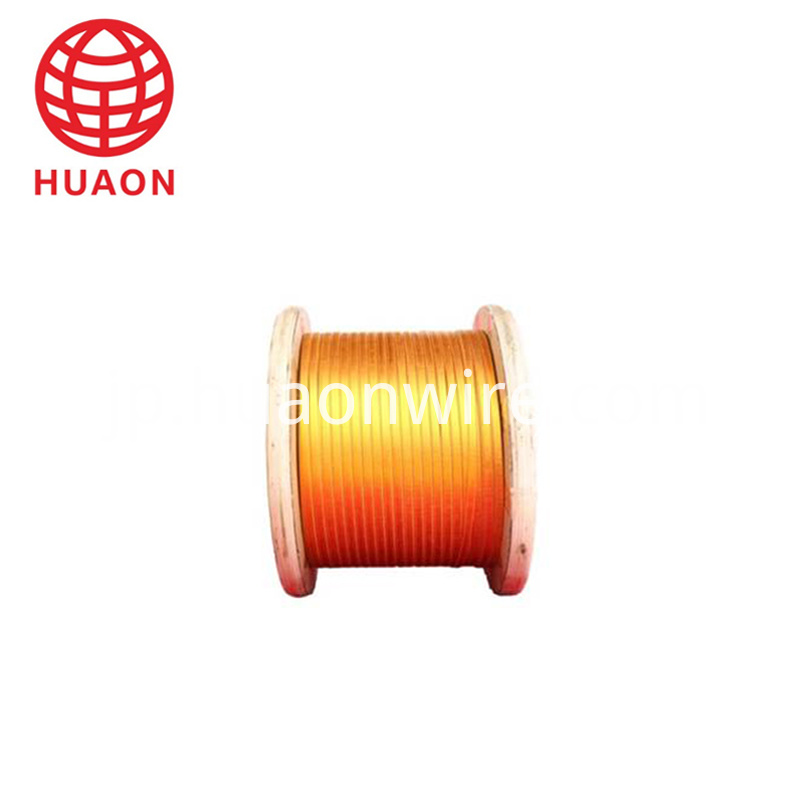 Double Glass-Fiber Copper Flat Wire