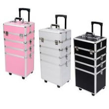 cosmetic make up cases with trolley