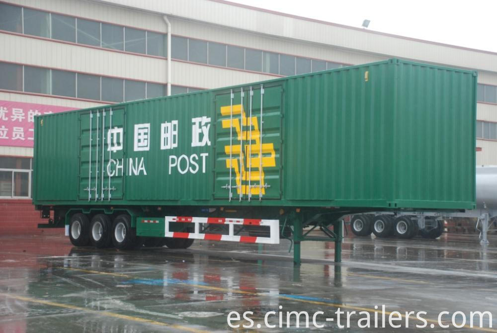 Rf Two Axle Box Curtain Side Semi Trailer