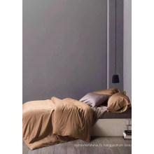 Fournisseur d'Alibaba Peach peau tissu brossé et solide textile textile à domicile