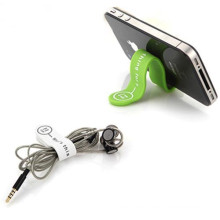 popular mobile phone stand magnetic silicone cable clip