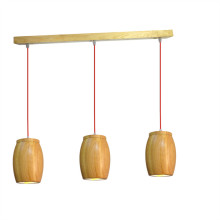 Indoor Kitchen Room Modern Wooden Pendant Light (KAM-AZB-3)