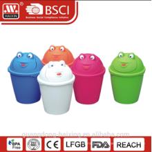 HaiXing Popular Kunststoff Frosch Muster Abfallbehälter