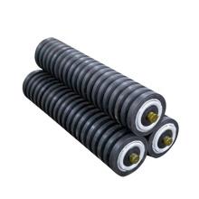 Conveyor buffer impact conveyor roller idler Rubber coated conveyor rollers