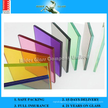 6.38-42.3mm claro PVB / vidrio de vidrio de color laminado con AS / NZS2208: 1996