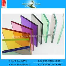 6.38-42.3mm Transparent PVB / verre laminé en verre coloré avec AS / NZS2208: 1996
