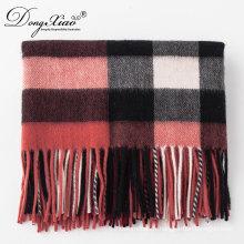 Dernière Design Lady Fashion laine écharpe surdimensionné Chunky Tartan laine chaude écharpe