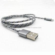 Cabo de carga USB trançado de nylon para Micro 5pin