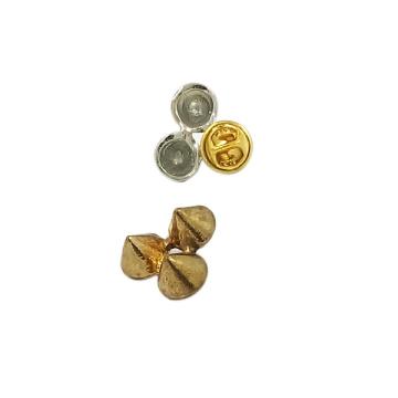 Personalizado broche de metal estilo rebite pin para roupas (jh0036)