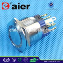 Interruptor de botón a prueba de agua del interruptor de botón de Daier 22m m
