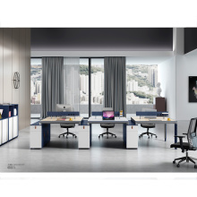 Straight Line 6 Person Workstation for Office Bench Type