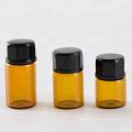 Bouteille de tubes à essai d'huile essentielle de verre d'essai d'ambre de 5ml 10ml