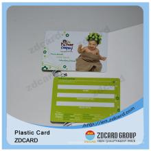 Plastique avec impression couleur sans contact Carte à puce sans contact