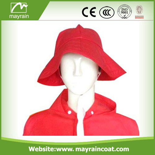 100% Waterproof Red PU Hood