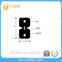 2 core FTTH G657a2 indoor drop fiber optic cable with LSZH jacket