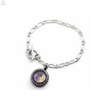 Runde schwarze schwimmende Charme Uhr Schmuck-Set führte Halskette für Frauen