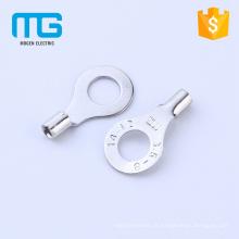 Stud # 8 terminais de anel não isolados, terminais de cobre com faixa de fio 0.5-1.5mm2, certificação CE