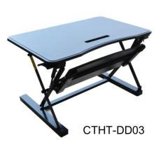 El escritorio de elevación ajustable móvil pequeño del resorte de gas se levanta el escritorio