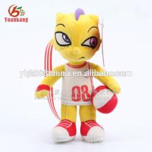 Dragón de fútbol al por mayor de juguete de peluche, dargon feliz juguete