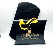 Custom Printed Brand Name Logo Hair Extension Pillow Wig Packaging Box