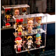 Caja de presentación de almacenamiento de producto de juguete de acrílico personalizado