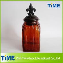 Glas Vorratsglas mit Metalldeckel (TM019)
