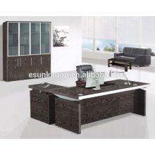 Oferta de mobiliário de escritório, Mobiliário de mesa de vidro moderno, tamanho personalizado e desenhos
