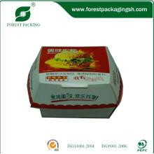 Caja de hamburguesas de papel colorido de la categoría alimenticia