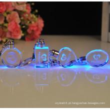 Keychain de cristal octogonal elegante keyring requintado
