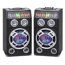 Беспроводной двойной 10 дюймов профессиональные активные колонки с Bluetooth и красочный свет