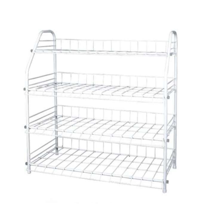 Trapezoidal metal shoe rack household