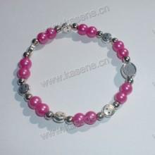 Grosso pérola pérolas com liga sorrindo rosto beads moda pulseira